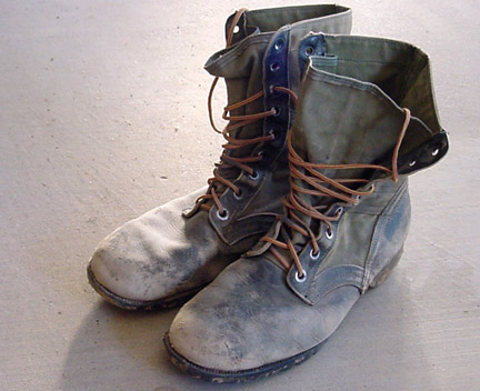 how to clean combat boots australian army